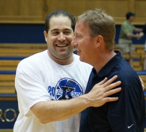 Cragg (right) has many duties including the coordination of the Coach K Academy