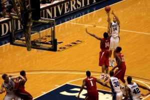 McClure nailed this jumper in the Blue Devils romp of Maryland