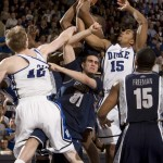 Singler and Henderson battle - photo property of Duke Photography