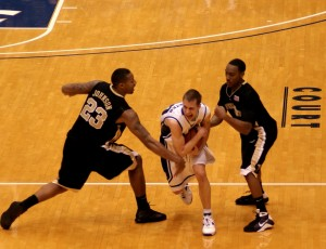 Jon Scheyer looks to lead the Blue Devils into the semi finals of the ACC Tournament in Atlanta, Georgia