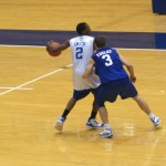 Smith and Paulus face off in practice - BDN Photo