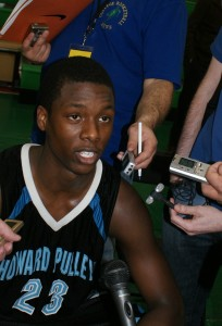 Barnes was swarmed by the media after scoring 29 points  BDN Photo