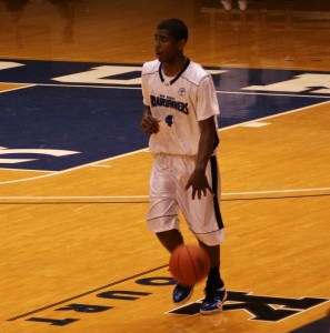 Kyrie Irving on Coach K Court in Cameron - copyright BDNP