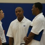 JWill and Nate discuss talent during the Coach K Academy Camp in Durham, N.C.
