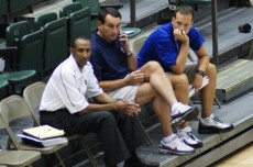 Coaches take in the action today in Orlando
