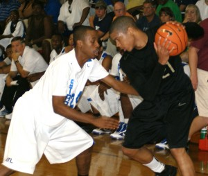 Andre Dawkins had a 36 point 9 rebound effort during today's Peach Jam action - BDN Photo