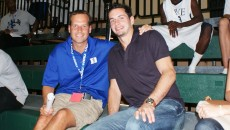 Chris Collins and JJ Redick watched Andre Dawkins game Monday evening - copyright BDN Photo