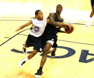 BDN covers all the major events in person, including Barnes driving on Pressey at the NBAPA Top 100 Camp.