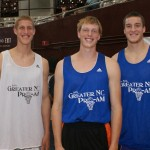 Mason Plumlee, Kyle Singler and Miles Plumlee - copyright BDN Photo