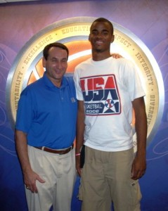 Josh Hairston poses with his future coach - c/r Hairston