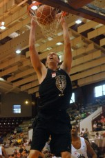 Ryan Kelly dunks - Special to BDN - C/R Rick Crank Photo