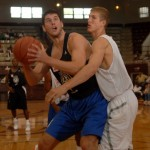 Zoubek and Plumlee went head to head - Rick Crank Photography