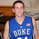 Ryan Kelly enjoyed media day and posed with a smile for the Blue Devil Nation - BDN Photo (C)