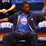Duke fans hope Harrison Barnes chooses Duke - Phto is copyrighted by BDN Photo and cannot be used without permission from BDN.