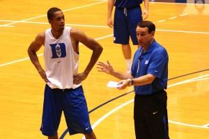 K teaching Lance Thomas - BDNP
