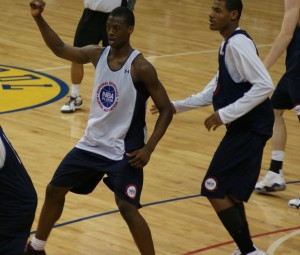 Harrison Barnes calls for the ball during the NBAPA Top 100 Camp