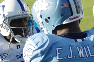 UNC stayed in Thaddeus Lewis face all day long in their 19-6 win