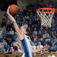 Courtesy: Duke Photography  Miles Plumlee posted career highs with 19 points and 14 rebounds in Sunday's win over Wake Forest.