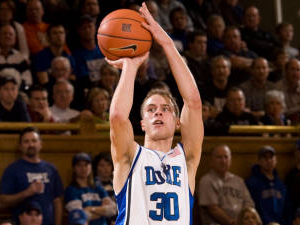 Jon Scheyer led Duke with 25 points in Saturday's game against Georgia Tech.