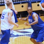 Duke practing for Tech - BDN Photo