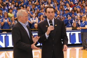 Coach K's 1000th career game at Duke