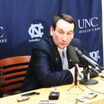 Krzyzewski happy after the victory and BDN was there for his comments