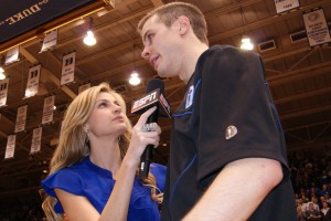 ESPN's Erin Andrews interviews Jon Scheyer - BDN Photo