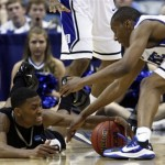 Photo Go Duke - Smith wrestles for a loose ball vs Arkansas Pine Bluff