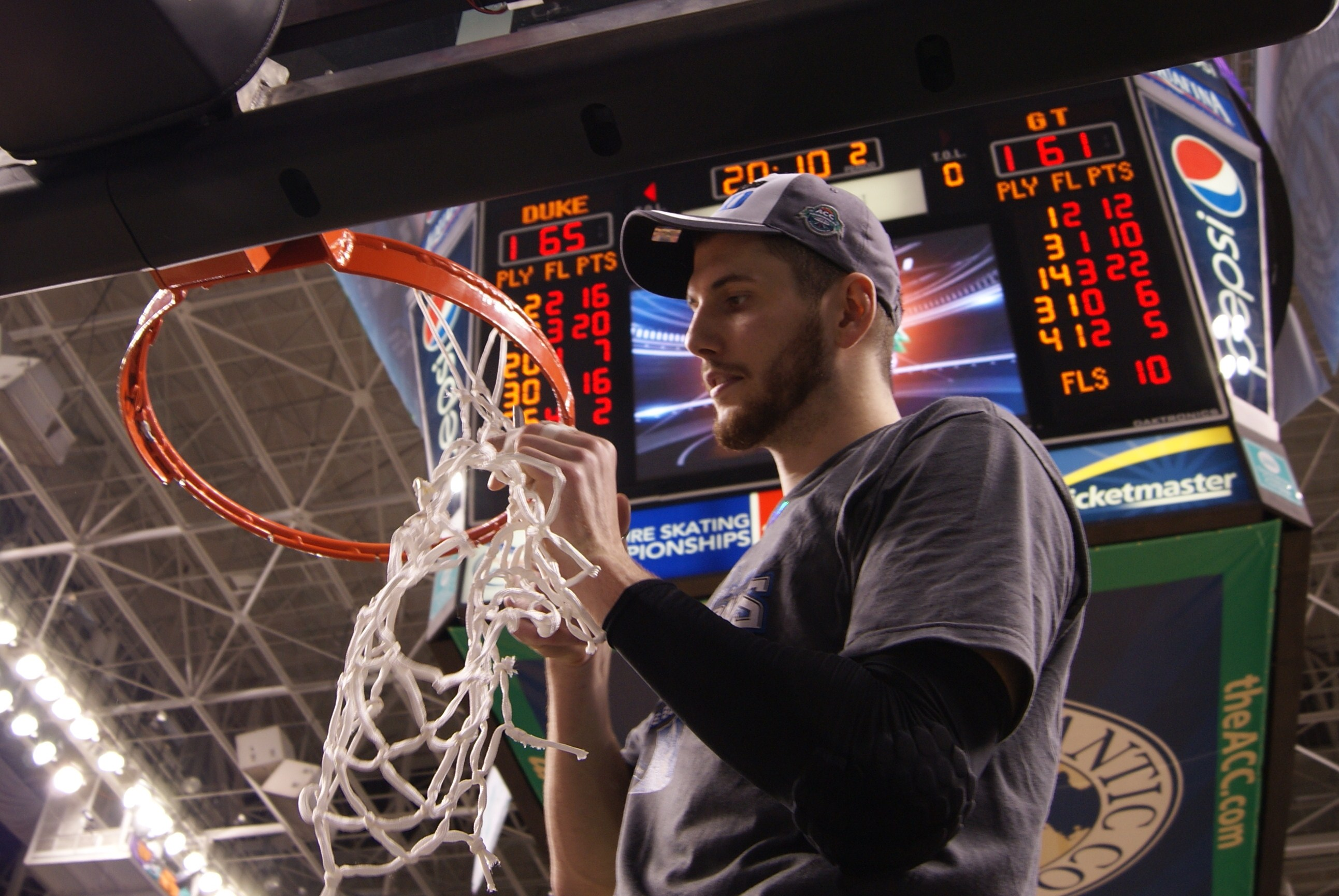 Zoubek cuts nets as ACC Champion