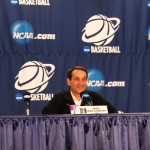 Coach K addressed the media today - BDN Photo