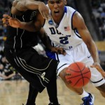 Nolan Smith drives to the bucket against Purdue - Photo David Bradley, Duke Blue Planet (see their game galleries)