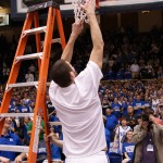 Zoubs is the oinly Duke player that didn't need the ladder to cut down the net - BDN Photo