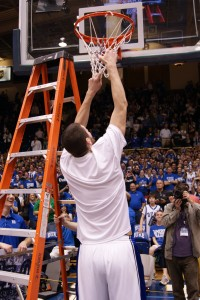 Zoubek cuts the nets for Duke