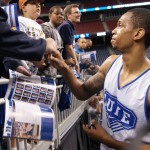 Lance Thomas signs for fans in Houston - BDN Photo
