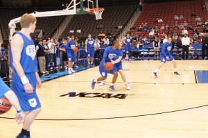 Duke practices in NCAA South Regional