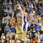 Jon Scheyer nails a key three!  Lance King