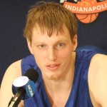 Kyle Singler talks about his decison to remain at Duke - BDN Photo