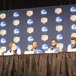 Duke players address the media in Indy  BDN Photo