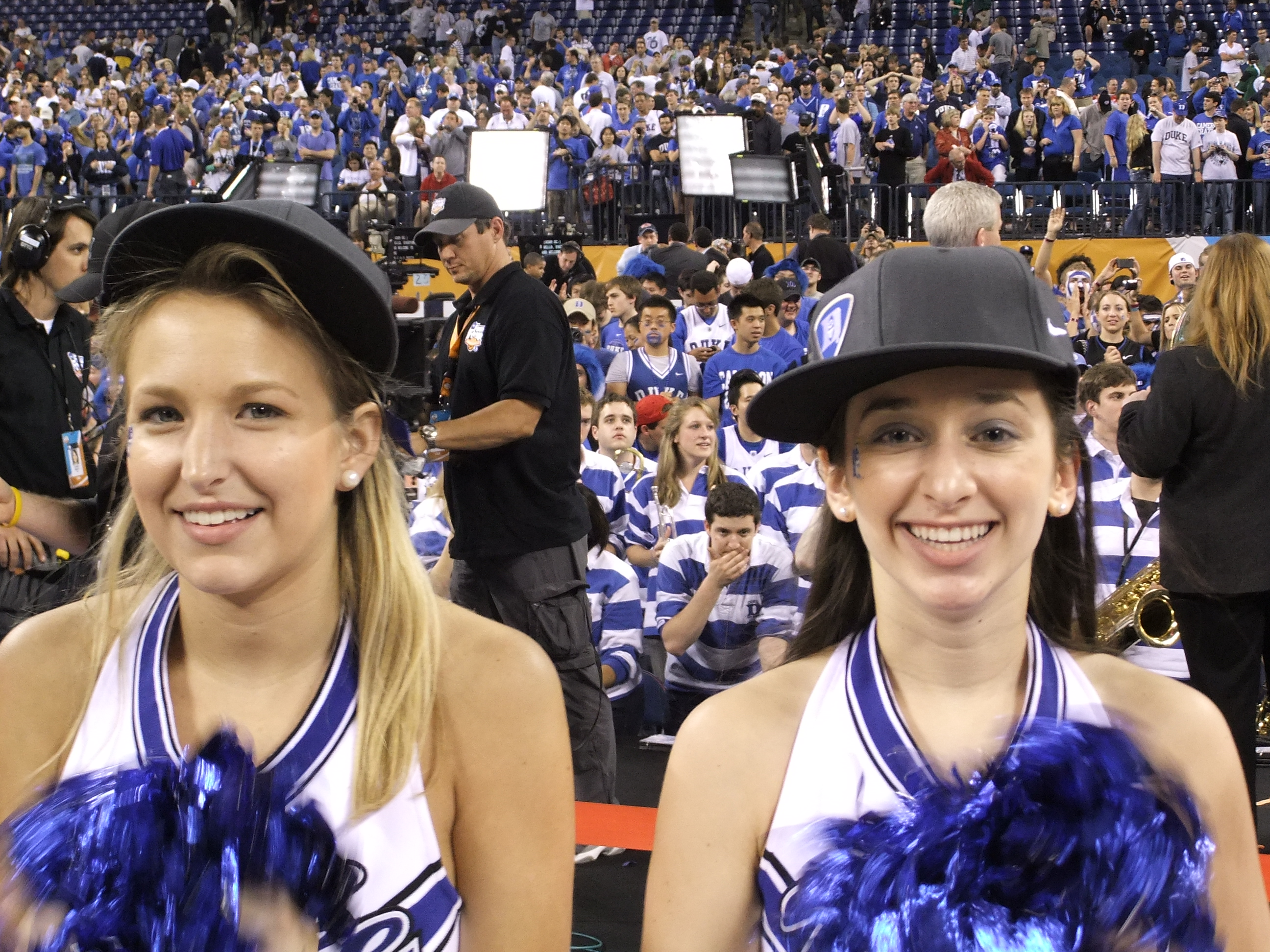Monday Musings likes to salute the people behind the scenes, like these two lovely cheerleaders.