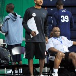 Chris Duhon barking orders while coaching at this past weekeneds NBAPA Top 100 Camp - Photo Rick Crank/Blue Devil Nation