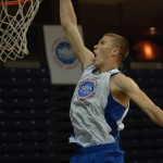 Kaleb Tarczewski throws down a dunk at the NBAPA Top 100 Camp.  Become a trial member and read this in depth interview with a rising prospect.  Photo property of Rick Crank and Blue Devil Nation
