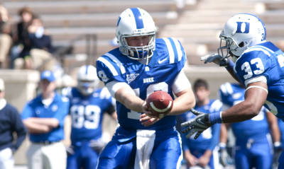 Connette got some valuable snaps in spring practice - photo Duke Sports Information