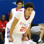 Austin Rivers talks with BDN&#039;s Mark Watson at the Nike Peach Jam - photo BDN