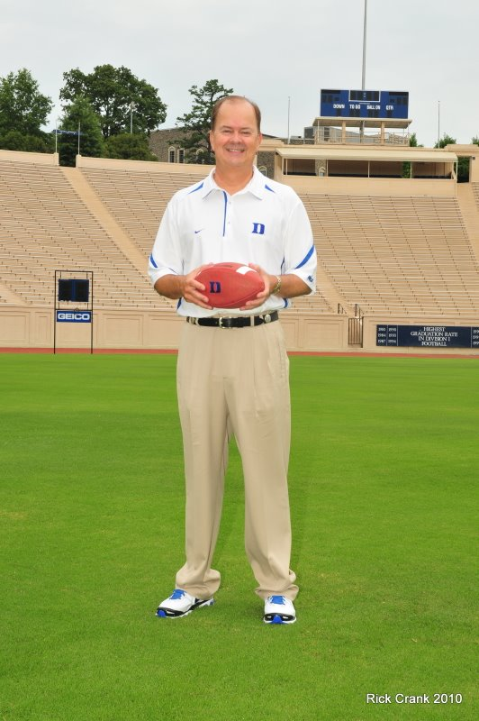Coach David Cutcliffe poses for BDN on Photo Day - BDN Photo, Rick Crank