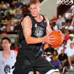 Mason Plumlee flexes after a rebound at the N.C. Pro Am - Photo pixbyric and BDN