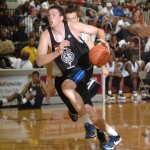 Ryan Kelly scored 22 points on Firday evening to help D-One advance in the N.C. Pro Am Playoffs - photo Rick Crank [pixbyric.com] and Blue Devil Nation