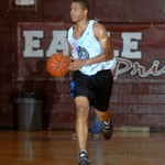Andre dribbles up court at the NC Pro Am - pixbyric BDN Photo