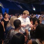 Singler signs for fans after the Duke Basketball Banquet.  Singler and Smith will plya for the US Select team