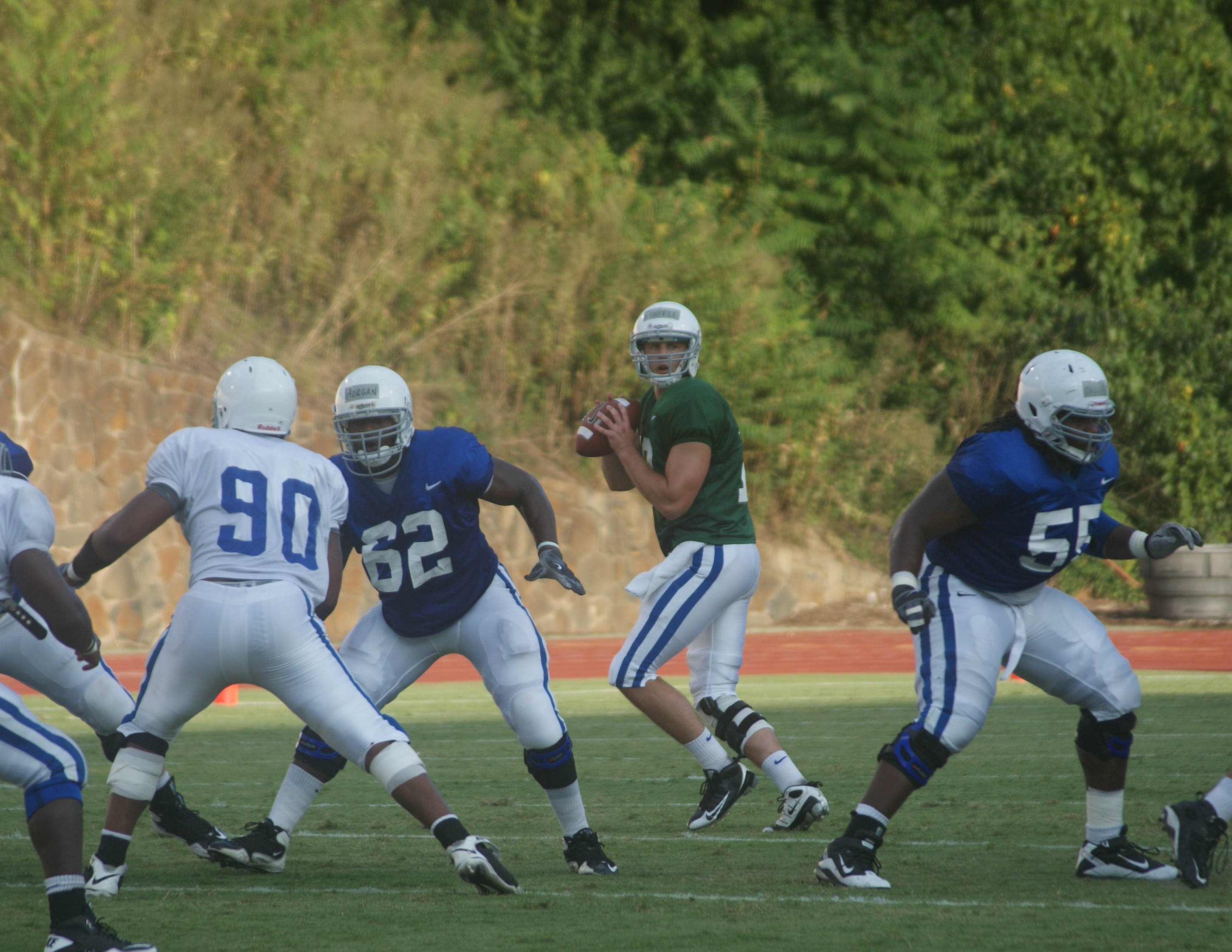 Sean Renfree has a wide open pocket during last evenings scrimmage.  BDN Photo