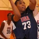 Laney takes it in the paint for Team USA - courtesy USA Basketball